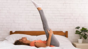 Fitness Exercise on Bed